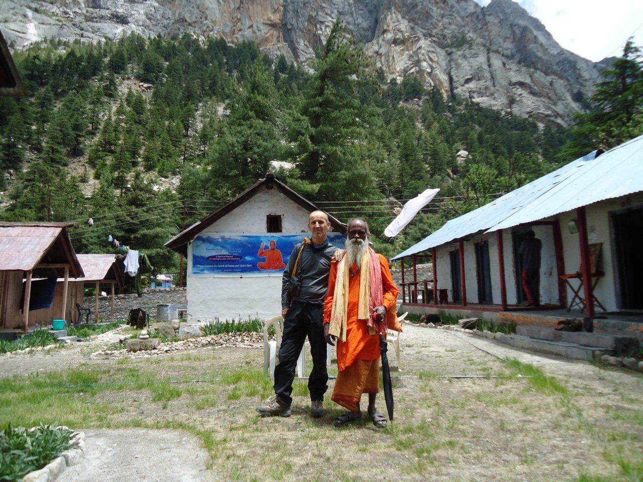 François et Gauri Shankar Baba à Gangotri (Inde 2015)